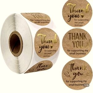 500 pcs 😀😀Roll of Thank you stickers😀😀